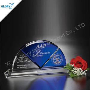 Custom Elegant Award K9 Crystal Memorial Plaque