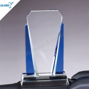 Quality Engraved Blue Crystal Awards for Trophy Plaque