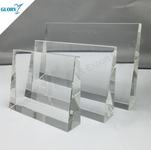 Blank Square Cube Crystal Plaques Awards for Business Souvenir