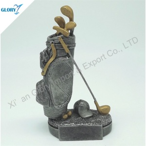 Quality Golf Resin Fantasy Sports Trophies for Athletics