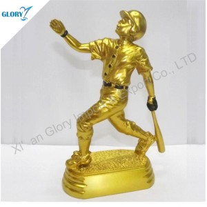 Funny Figures Resin Baseball Trophies for Souvenir