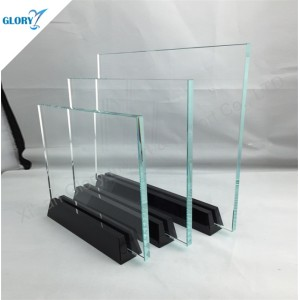 New Plaque Trophy Etching Blank Glass Awards with Black Base
