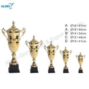 Big Metal Gold Sport Trophy Cup with Black Base