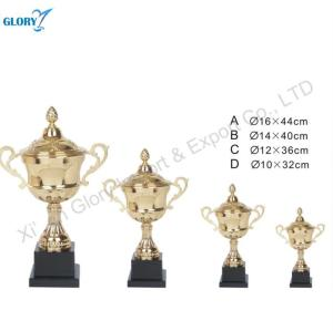 Perpetual Golden Sports Cups Trophy with Black Base
