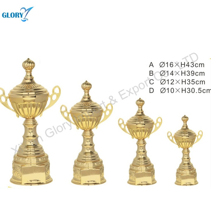 Sport Gold Large Metal Soccer Football Trophy Cup