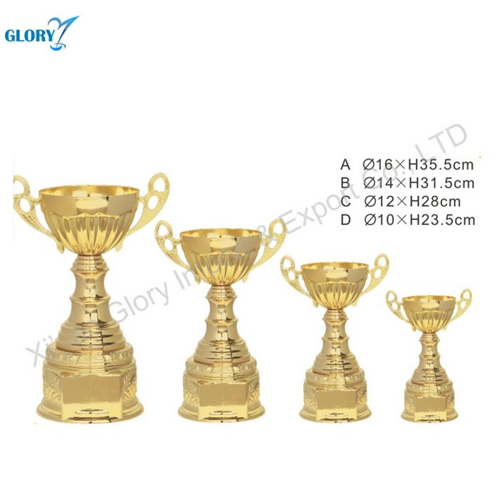 Blank Antique Gold Metal Trophy Cup Sports for Souvenir