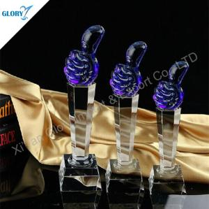 Blank Crystal Thumb Trophy Cup for Award Show