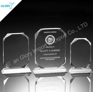 Custom K9 Crystal Blank Plaque Trophies for Education
