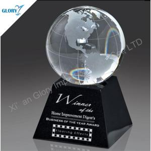 Clear Globe Anniversary Crystal Ball Trophy for Award Show