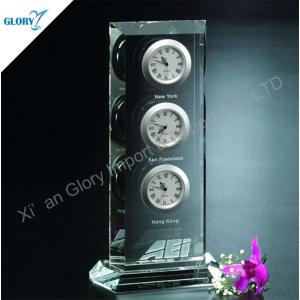 Multifunction World Time Clock Crystal Timepiece