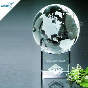 Anniversary Glass Globe Crystal Awards for Souvenir