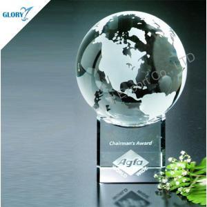 Anniversary Glass Globe Crystal Awards for Souvenir