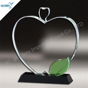 Custom Apple Shaped Crystal Award Trophy