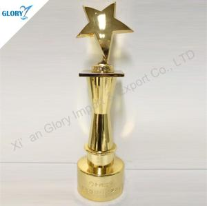 Wholesale Award Gold Plated Metal Star Trophy