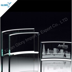Wholesale Blank Jade Glass Award Trophy for Engraving