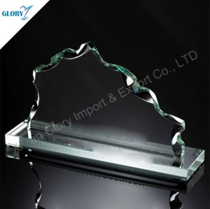 Custom Engraved Awards Art Glass Trophies for Souvenir