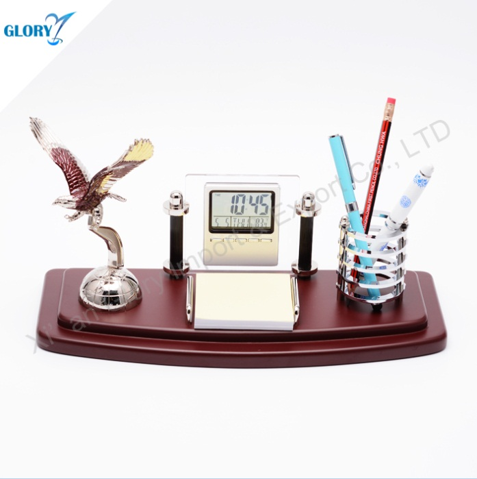 Wholesale Eagle Pen Holder Anniversary Gift Item for Office Table