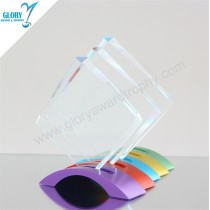 Wholesale New Design Blank Plaques Crystal Glass Trophies for Award Show