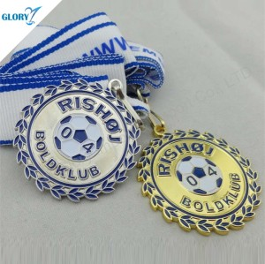 Custom Colorful Sports Soccer Medals for Sale