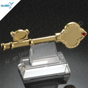 Custom Metal Key Shape Trophy for Business Gifts