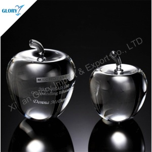 Clear Decorative Glass Crystal Apple Wedding Favor