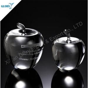 Clear Decorative Glass Crystal Apple Wedding Favor