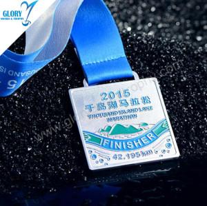 Online Engraved Sport Race Blank Marathon Medals