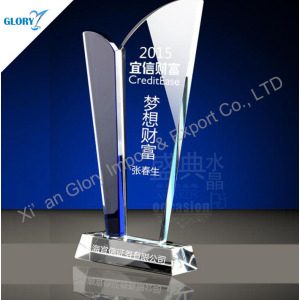 Customize Achievement Trophy Crystal Souvenir Award for Staff
