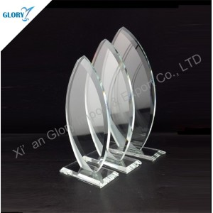 Cheap Crystal Trophy Clear Glass Award Made in China