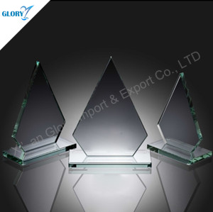 Wholesale Iceberg Award Jade Glass Trophy for Souvenir