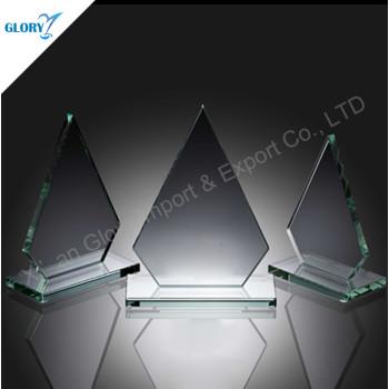 Wholesale Iceberg Award Jade Glass Trophy for Souvenir