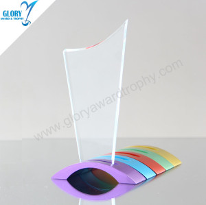 New Design Custom Corporate Glass Awards for Souvenirs
