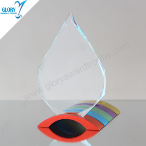 Wholesale Best Design Shield Glass Awards Plaques Trophies