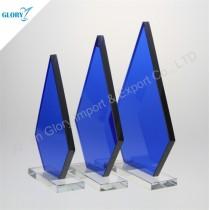 Online Custom Design Blank Crystal Glass Awards Trophies
