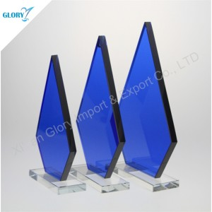Online Custom Design Blank Crystal Glass Awards Trophies