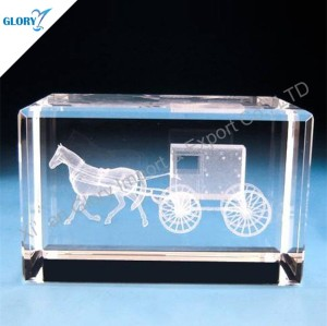 Quality Blank K9 Crystal Cube for 3d Laser Engraving