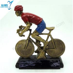 Color Resin Sport Bike Trophy for Winner