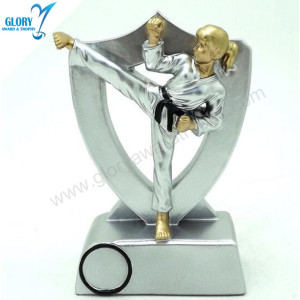 Sports Action Figure Taekwondo Trophy for Award Show