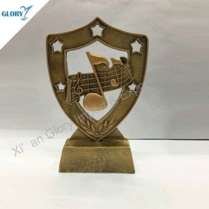 Wholesale Musical Note Resin Trophy Music
