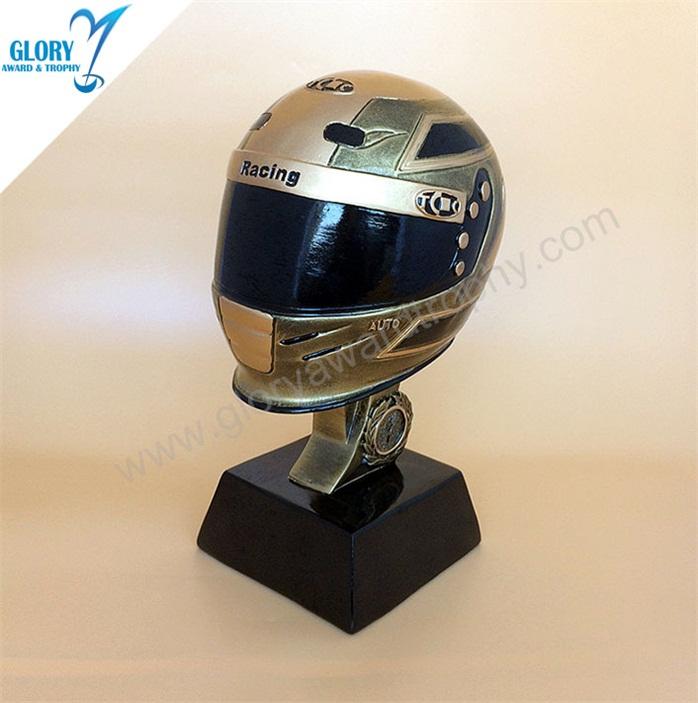 Wholesale Resin Golden Motorcycle Helmet Trophy - Glory Award & Trophy