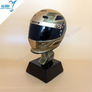 Wholesale Resin Golden Motorcycle Helmet Trophy