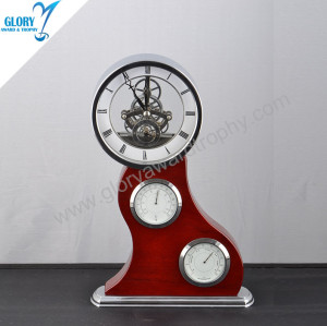 Wholesale Antique Wooden Desk Clock for Souvenir
