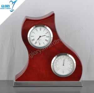 New Design High Quality Wooden Desktop World Clock Gift