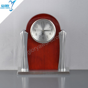 Elegant Qulity Wooden Desktop Clock Gift for Souvenir