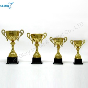 New Designs Big Golden Trophy Cup Parts
