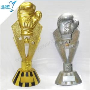 Sport Sculpture Souvenir Awards Resin Boxing Trophies