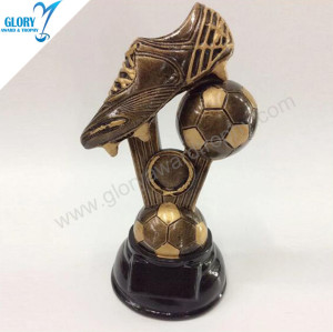 Resin Football Soccer Trophies Best Award Design