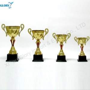 Wholesale Golden Plastic Trophy and Cup of Sports