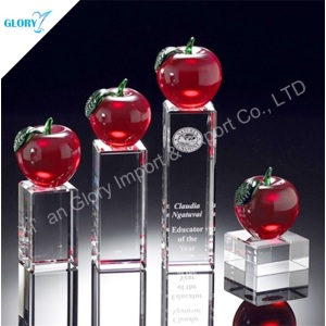Antique Red Crystal Apple Trophy for Award Show