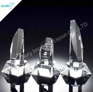 Custom Elegant Fashionable Economy Film Festival Trophy Crystal Awards